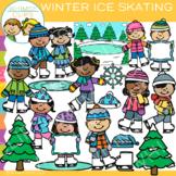 Ice Skating Winter Clip Art