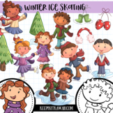 Winter Ice Skating Clip Art Set