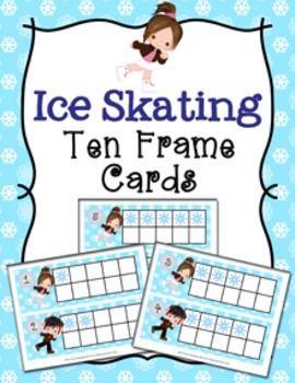 Winter Ice Skating Ten Frame Cards