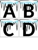 Winter/Icicle Theme Alphabet Letters