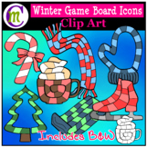 Winter Icon Game Boards Clip Art