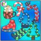 Winter Icon Game Boards Clip Art
