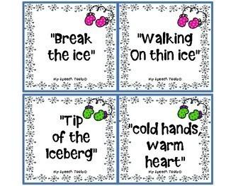 Winter Idiom FREEBIE