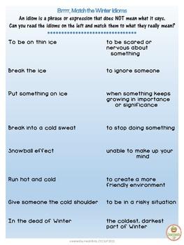 Social Skills: Winter Idioms