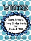 Winter Idioms, Prompts, Story Starters & Themed Paper {Easy Writing Center}