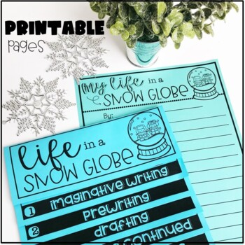 Winter Writing Activity-Life in a Snow Globe