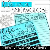 Distance Learning | Winter Writing Activity Snow Globe Wri