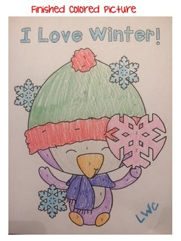 Winter Improper Fraction to Mixed Number coloring Activity