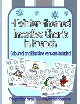 {Winter Incentive Charts!} 4 Charts for Behaviour Management or Speaking French