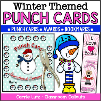 Winter Incentive Pack ~ Punch Cards, Awards, Bookmarks, Homework Passes and More