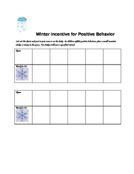 Winter Incentive for Positive Behavior