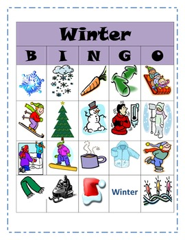 Winter Inference Bingo
