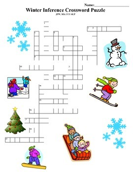 Winter Inference Crossword Puzzle