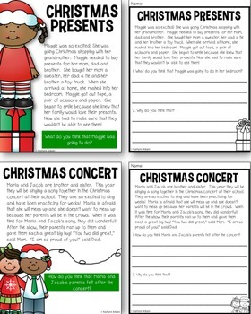 Winter Inferences - Christmas Reading Packet