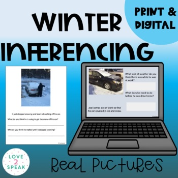 Winter Inferencing & Problem Solving with Real Pictures