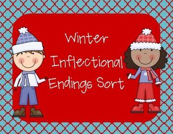Winter Inflectional Endings Sort