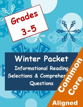 Winter Informational Reading Selections and Questions for Grades 3-5