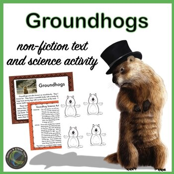 Groundhogs Reading with a Science Activity about Light