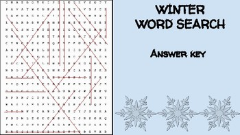 Winter Ingredient Word Search; FACS Culinary Bellringer Seasons Cooking Snow