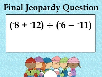 Winter Integer Game - Similar to Jeopardy