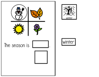 Winter - Interactive Adapted book