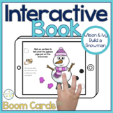 Winter Interactive Book Boom Cards™️   Snowman Speech Therapy