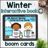 Winter Interactive Book   Boom Cards™ with WH-questions