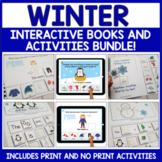 Winter Interactive Books and Activities Print No Print Bundle