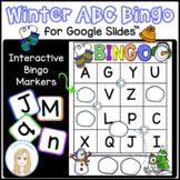 Winter Interactive Digital Letter Bingo Game for Google Slides™