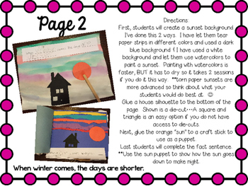 Winter Interactive Fact Book Writing and Winter Crafts