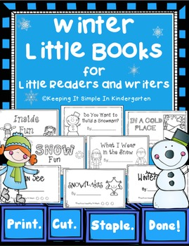 Writing Center Little Books for Little Readers and Writers - Winter