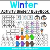 Winter Interactive Preschool Activity Binder/ Busy Book