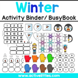 Winter Interactive Preschool Activity Binder/ Busy Book - January