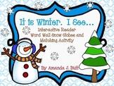 Winter Interactive Reader - Literacy:  Kindergarten; Autism; Special Education