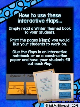 Winter Interactive Reading Flaps {SPANISH}