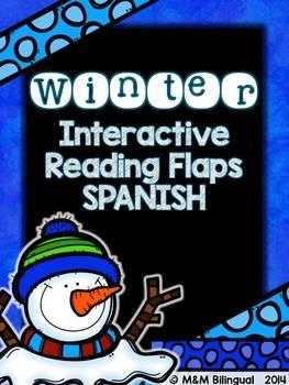 Winter Interactive Reading Flaps {SPANISH}