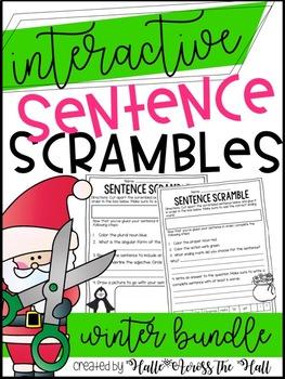Interactive Sentence Scrambles Winter {BUNDLED}