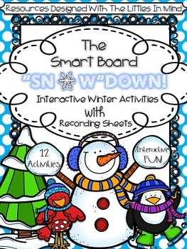 Winter Interactive Smart Board Math & Literacy Games With Recording Sheets