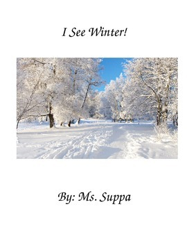 Winter Interactive Story with Matching - Differentiate - Spec Ed