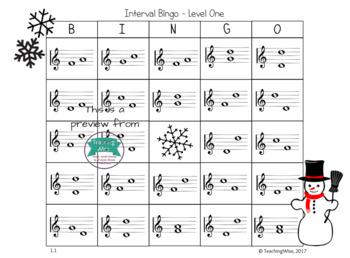 Winter Interval Bingo