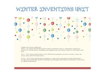 Winter Inventions Unit