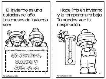 Spanish Reading and Writing  Activities Winter/ Invierno