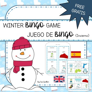 Winter - Invierno BINGO Game (English & Spanish)