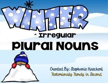 Winter Irregular Plural Nouns-Fun Differentiated Sorts, Sentences, Roam the Room