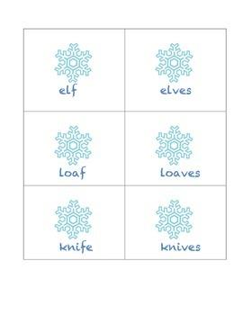 Winter Irregular Plurals