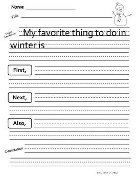 Winter Is Snow Much Fun!  Math and Language Arts Activities