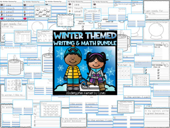 Winter Is Snow Much Fun in K and 1!  Winter Themed Writing and Math Bundle