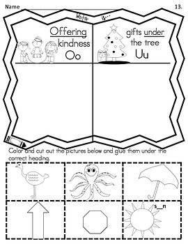 Phonics Winter Is Sound and Picture Sort Aligned with Common Core ELA K/1