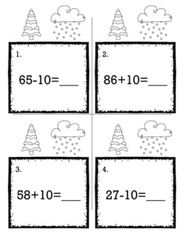 Winter January 1st Grade {Scoot Game/Task Cards} Math Bundle