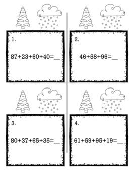 Winter January 2nd Grade {Scoot Game/Task Cards} Math Bundle